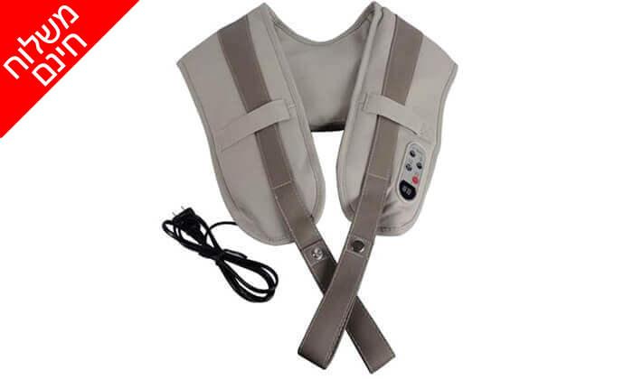 5 חגורת עיסוי חשמלית לצוואר ולכתפיים - משלוח חינם!