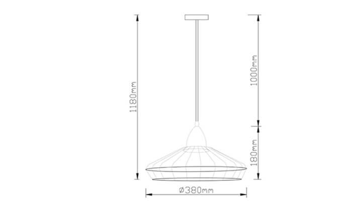 3 ביתילי: מנורת תלייה דגם רינג