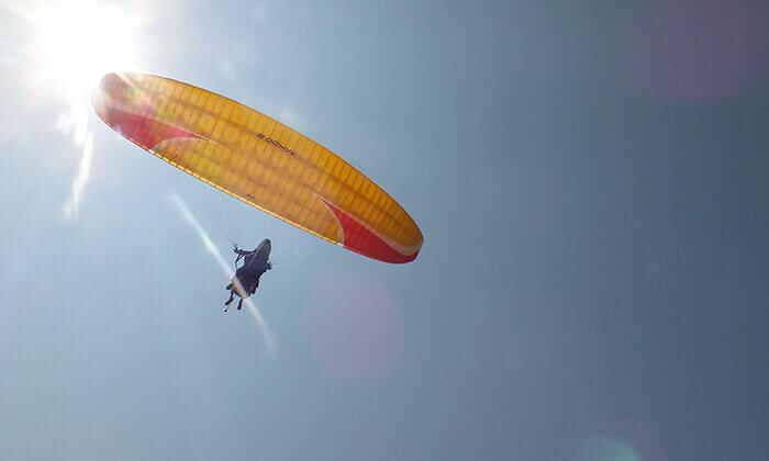 4 טיסת רחיפה עם RCP מצנחי רחיפה, שמורת הטבע שפיים