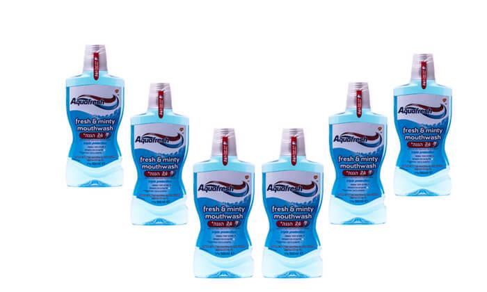 2 מארז 6 בקבוקי שטיפת פה אקווה פרש Aquafresh