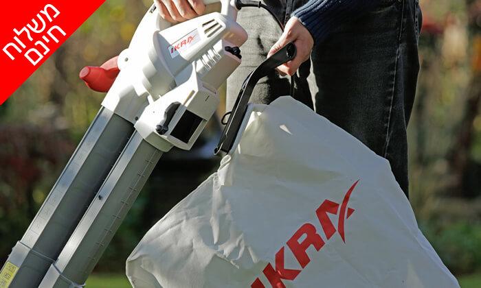 4 שואב ומפוח עלים חשמלי IKRA - משלוח חינם