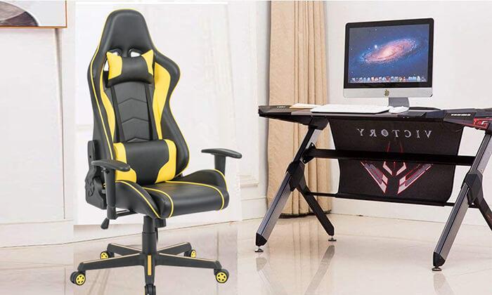 8 כיסא גיימינג ארגונומי Homax