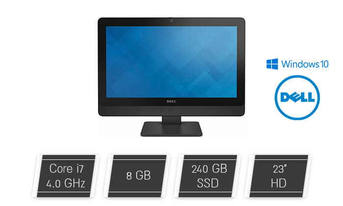 2 מחשב נייח DELL AIO עם מעבד i7