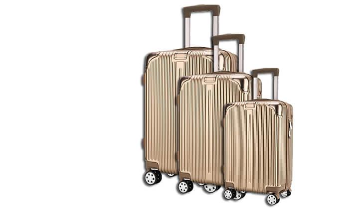 2 סט 3 מזוודות קשיחות Darna
