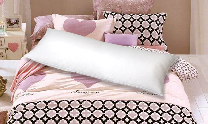 4 כרית שינה ארוכה עם ציפית