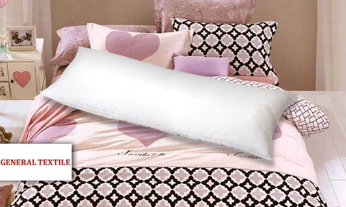 2 כרית שינה ארוכה עם ציפית