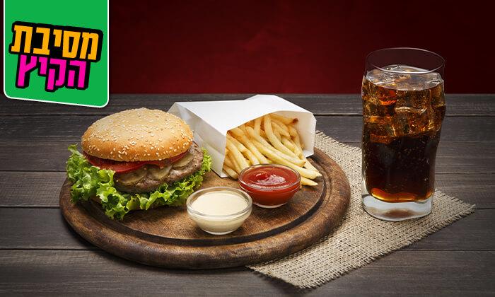 6 ארוחת המבורגר זוגית במסעדת חוף ממן, אילת