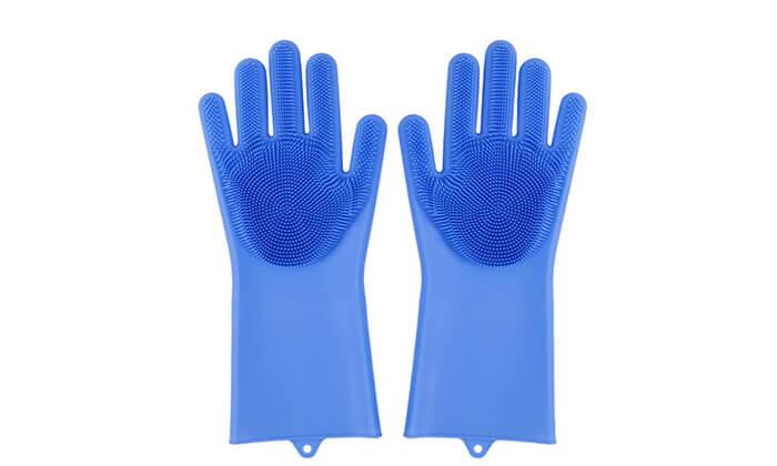 4 שני זוגות כפפות הפלא לקרצוף כלים Xenon