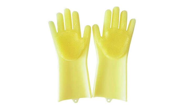 5 שני זוגות כפפות הפלא לקרצוף כלים Xenon