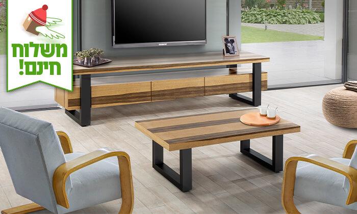 2 שולחן ומזנון סלון LEONARDO - הובלה והרכבה חינם!