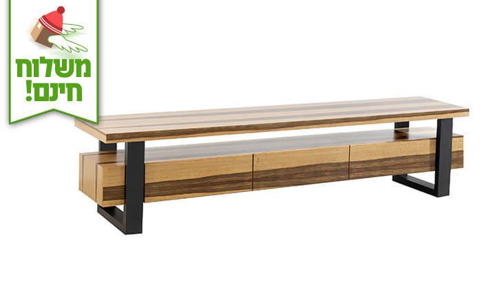 4 שולחן ומזנון סלון LEONARDO - הובלה והרכבה חינם!