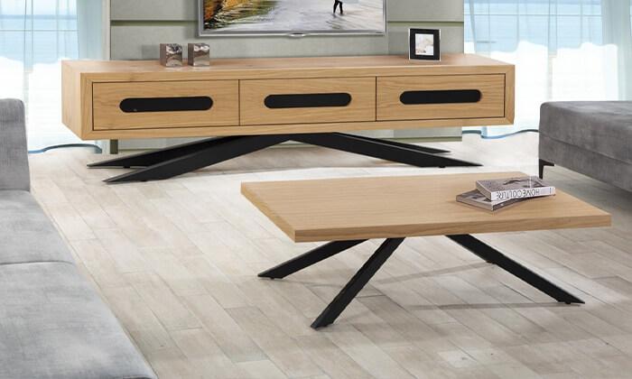 2 סט שולחן ומזנון סלון LEONARDO