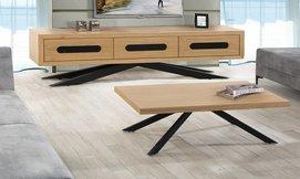 סט שולחן ומזנון סלון דגם טריפל