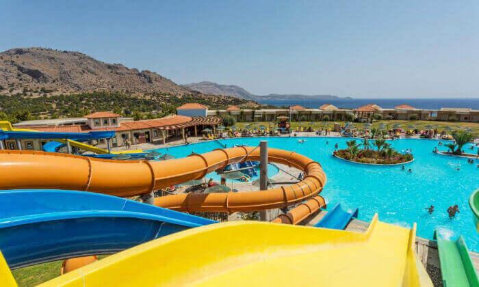2 חופשה ברודוס במלון 5 כוכבים עם מגלשות מים - כולל פסח ושבועות