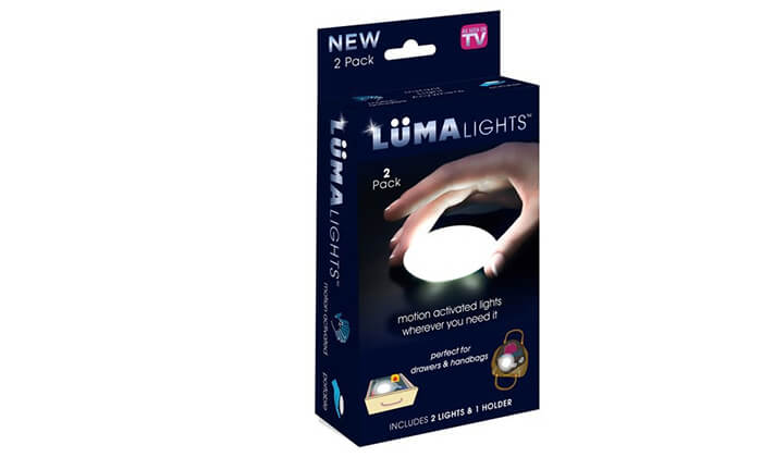2 זוג מנורות LED עם חיישן תנועה