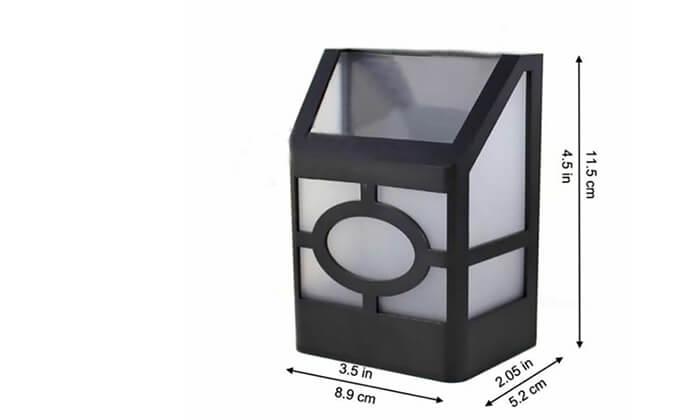 4 מנורה סולארית לגינה