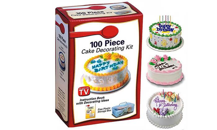 4 ערכה לקישוט העוגה