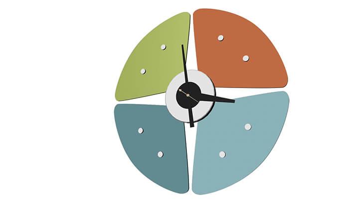 5 שעון קיר Petal
