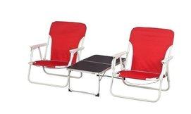 זוג כיסאות ושולחן פיקניק