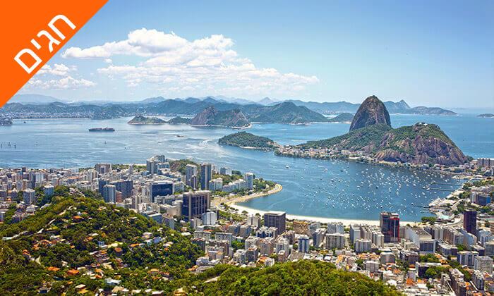 11 חופשה בריו דה ז'נירו, ברזיל - מלונות לבחירה על החוף בקופקבנה, כולל שבועות