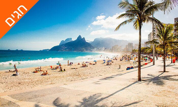 2 חופשה בריו דה ז'נירו, ברזיל - מלונות לבחירה על החוף בקופקבנה, כולל שבועות