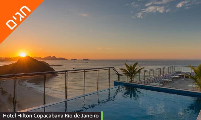 7 חופשה בריו דה ז'נירו, ברזיל - מלונות לבחירה על החוף בקופקבנה, כולל שבועות