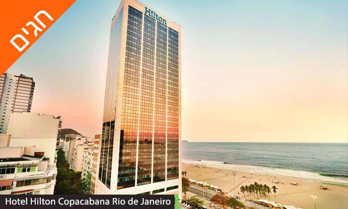 6 חופשה בריו דה ז'נירו, ברזיל - מלונות לבחירה על החוף בקופקבנה, כולל שבועות