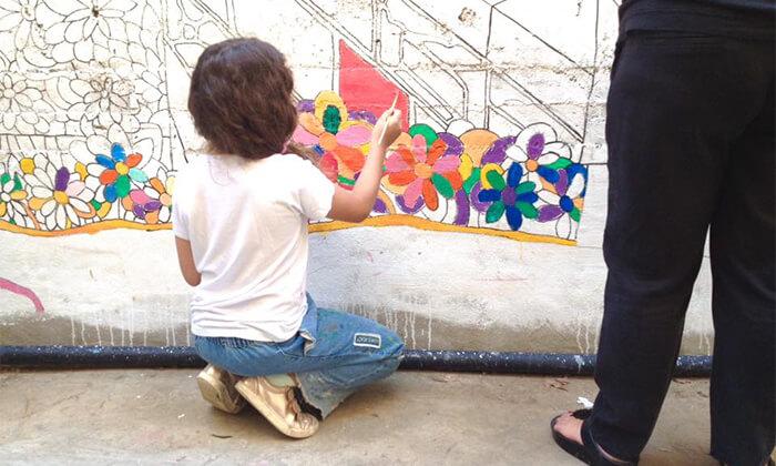 4 סדנה וסיור גרפיטי לילדים בפסח, נווה צדק תל אביב