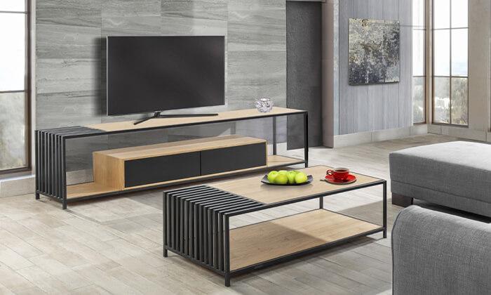 7 שולחן ומזנון סלון LEONARDO