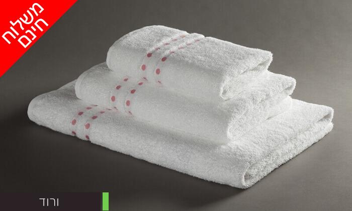 4 מגבת רחצה 100% כותנה - משלוח חינם
