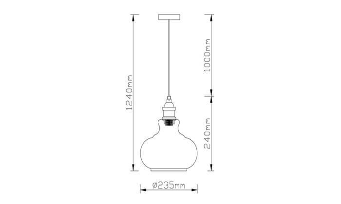 4 ביתילי: מנורת תלייה דגם שון