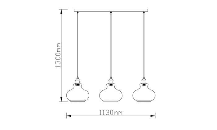 3 ביתילי: מנורת תליה דגם שון