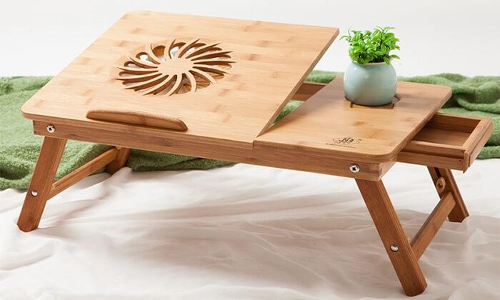 2 שולחן במבוק למחשב נייד