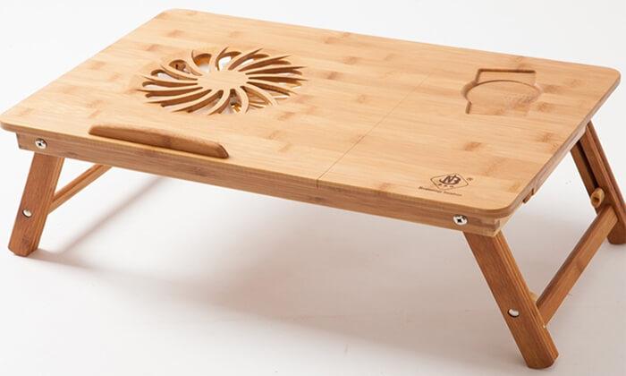 3 שולחן במבוק למחשב נייד