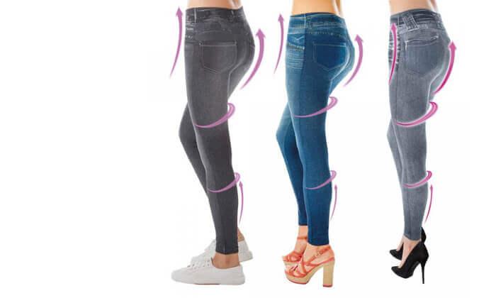 3 שלישיית טייץ בעיצוב ג'ינס