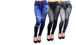 שלישיית טייץ בעיצוב ג'ינס