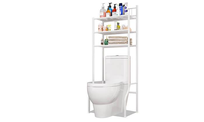 2 מעמד מדפים לחדר השירותים והאמבטיה