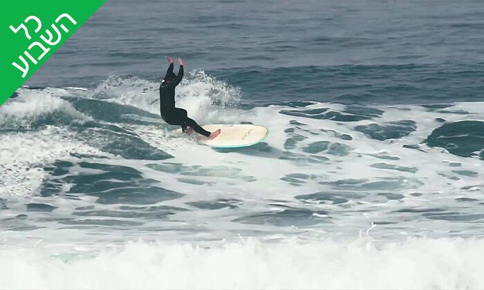 4 שיעור סאפ או גלישת גלים במועדון דרך הגל, נווה ים