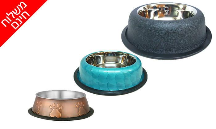 11 זוג קערות נירוסטה לכלב או חתול - משלוח חינם!