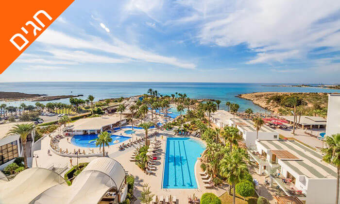 2 5 כוכבים ב-Nissi Beach קפריסין - Adams Beach Hotel, כולל סופ''ש ושבועות