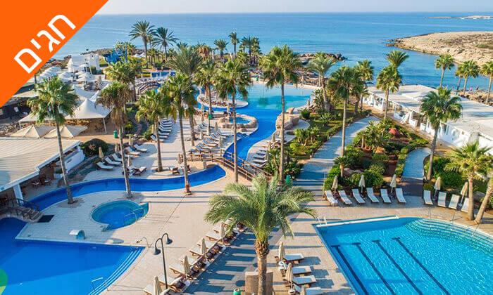 3 5 כוכבים ב-Nissi Beach קפריסין - Adams Beach Hotel, כולל סופ''ש ושבועות