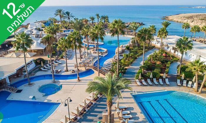 3 5 כוכבים ב-Nissi Beach קפריסין - Adams Beach Hotel, כולל סופ''ש