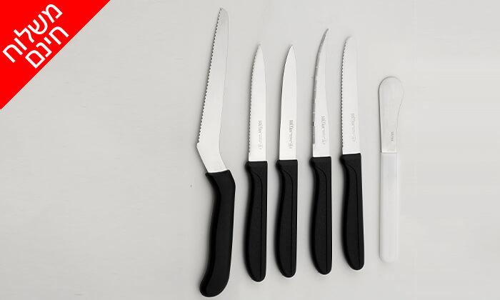 3 סולתם SOLTAM: סט 6 סכינים