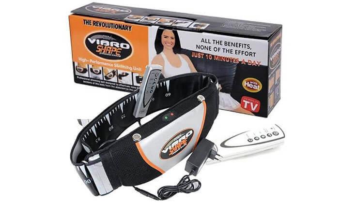 3 חגורת עיסוי והרזיה חשמלית VIBRO SHAPE