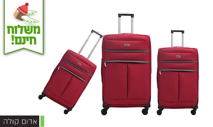5 סט שלושמזוודות סוויס SWISS - משלוח חינם