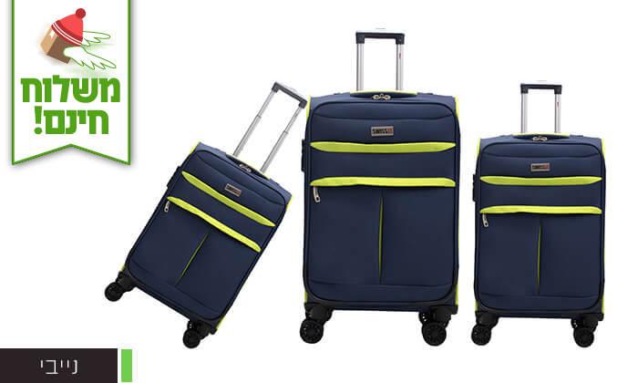 6 סט שלושמזוודות סוויס SWISS - משלוח חינם