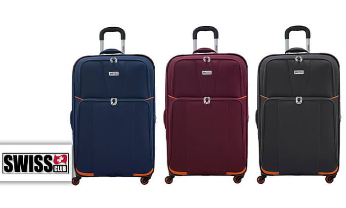 2 זוג מזוודות טרולי 20 אינץ' סוויס SWISS