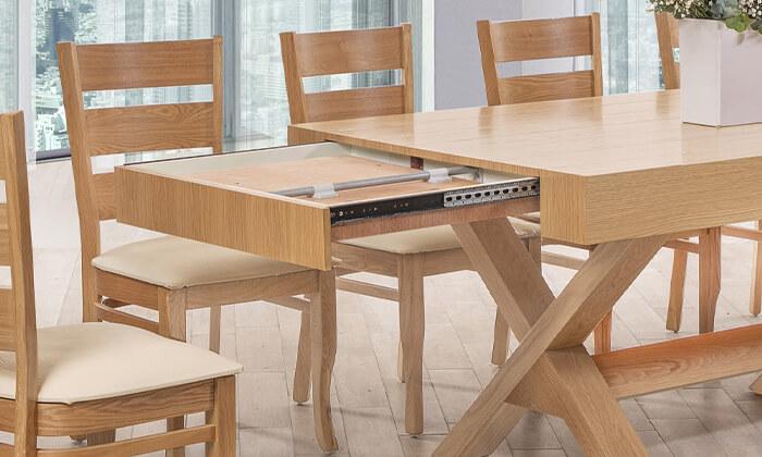 3 פינת אוכל עם 6 או 8 כיסאות LEONARDO, דגם קווינס