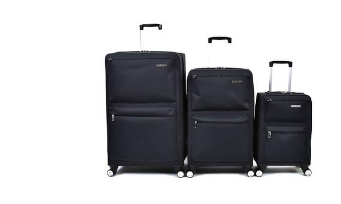 2 סט 3 מזוודות בד קשיחות למחצה Slazenger