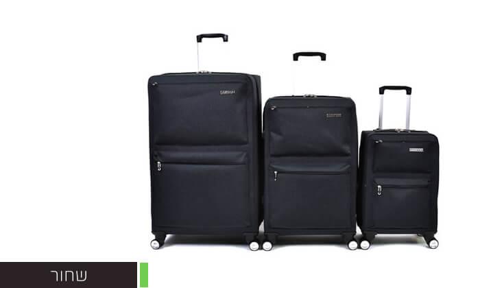 5 סט 3 מזוודות בד קשיחות למחצה Slazenger